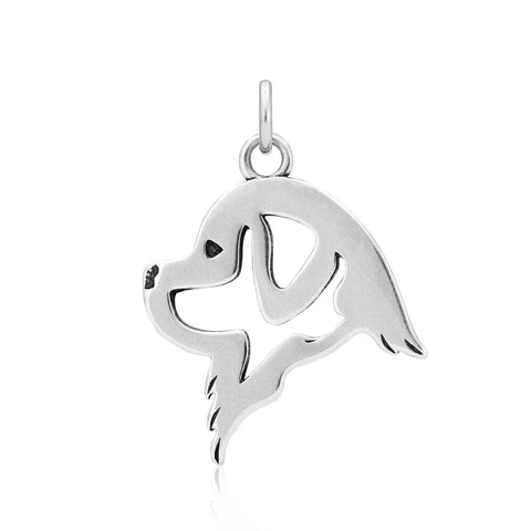 """Sterling Silver Newfoundland Pendant"""