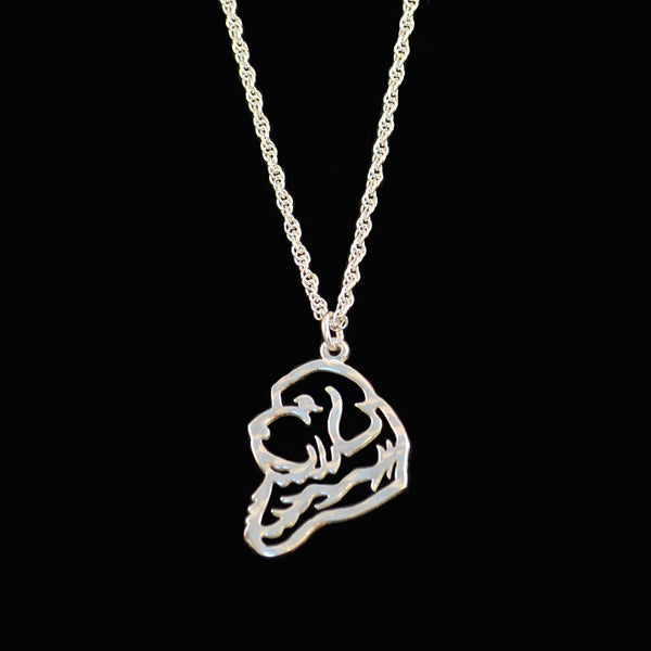 """Sterling Silver Newfoundland Silhouette Pendant & Chain"""
