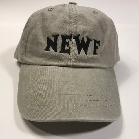 NEWF, embroidered cap - stone & black