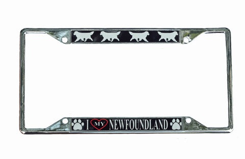 I love My Newfoundland License Plate Frame