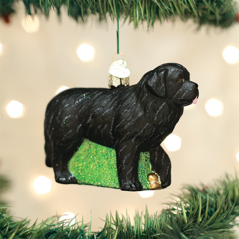 """2018 glass newfoundland ornament"""