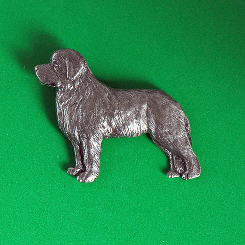 Antiqued Pewter Newfoundland Pin