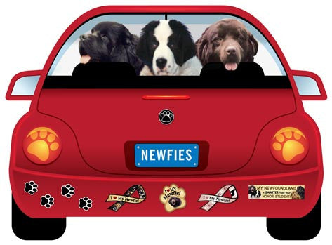 Newf PupMobile Car Magnet