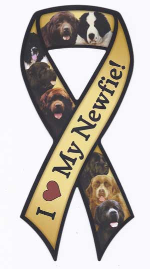 I Love my Newfie - Ribbon Magnet