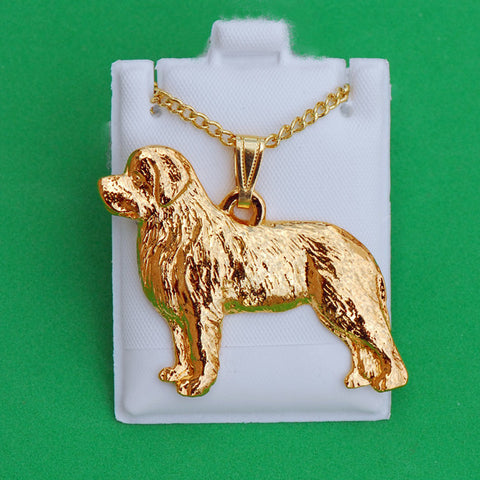 24K Gold Plated Newfoundland Pendant & Chain