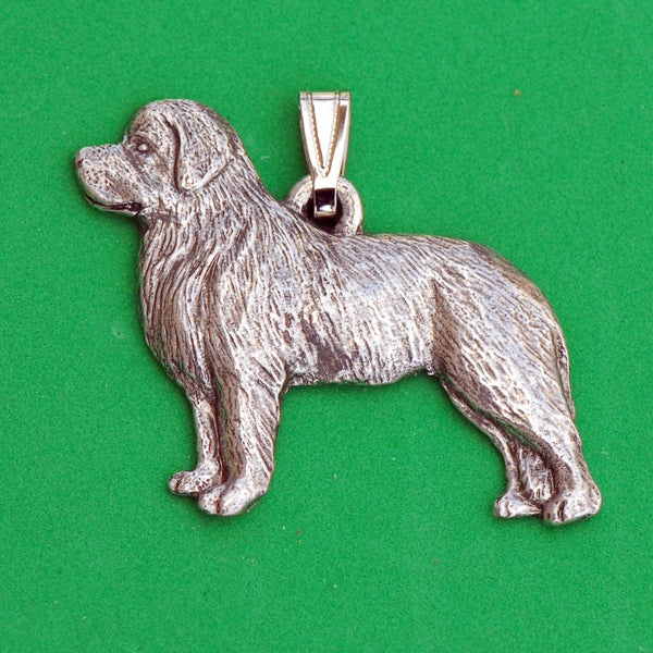 Antiqued Pewter Newfoundland Pendant