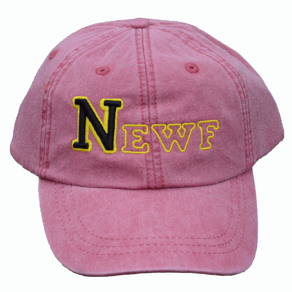 NEWF, embroidered cap - nautical red & black/yellow