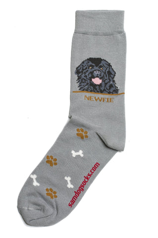 Newfie socks for men - gray