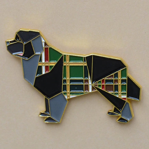 Newfoundland Dog Enamel Pin - NEW