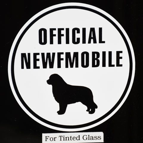 Official Newfmobile Decal For Tinted Glass