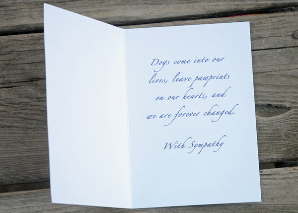 Pawprints, Sympathy Card