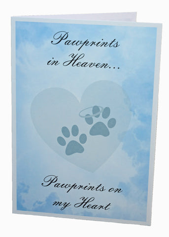 Pawprints in Heaven, Sympathy Card