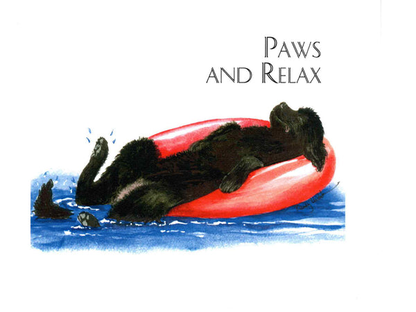 Paws and Relax, Note Card