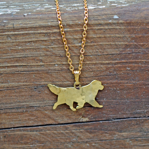 Gold Plated Newf Necklace