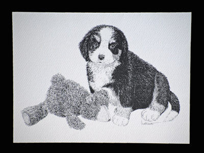 Puppy & Teddy Bear Blank Note Cards