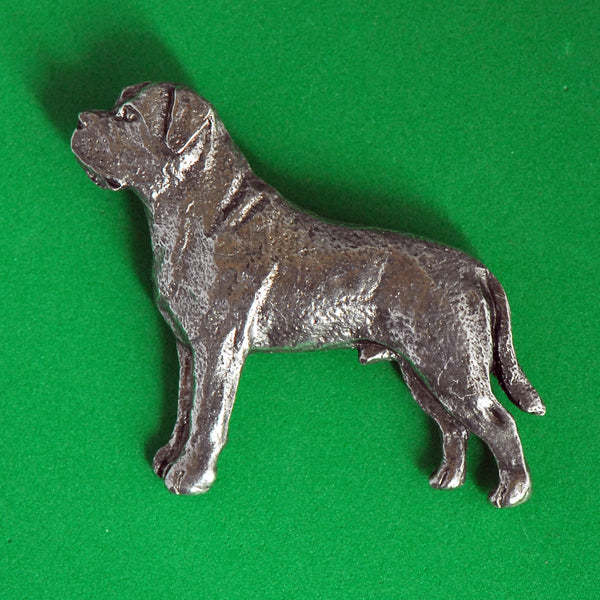 Antiqued Pewter Mastiff Pin