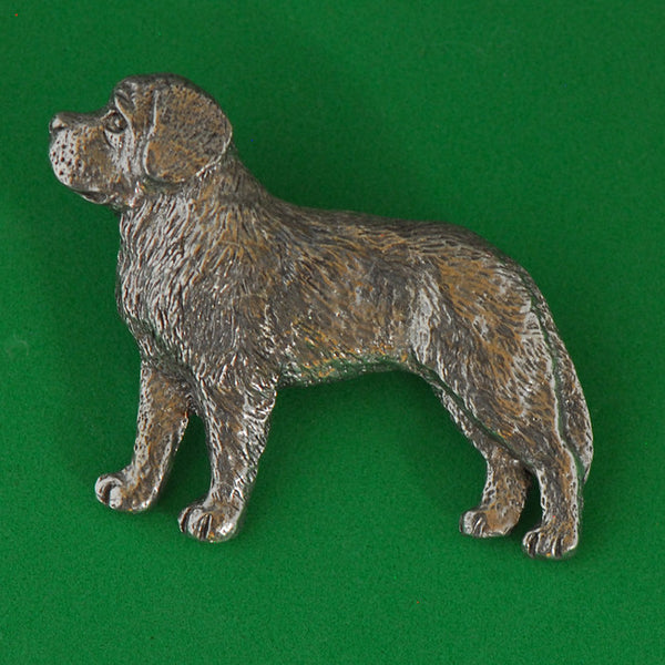 Antiqued Pewter St. Bernard Pin