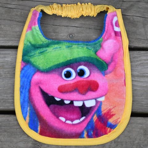Troll bib (PUPPY) - yellow trim