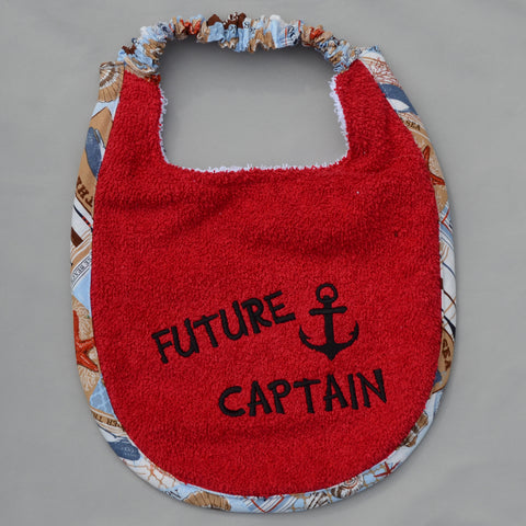 Future Captain, Puppy Drool Bib