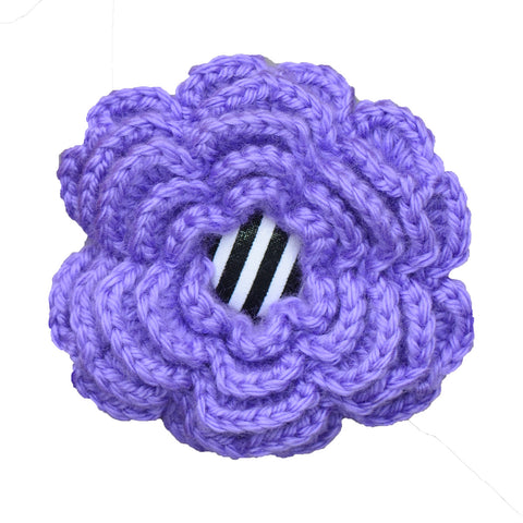 Hand-Crocheted Bright Purple Bloom for Her