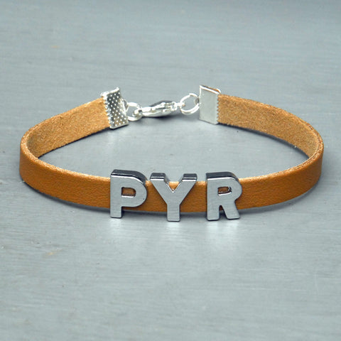 """PYR"" charm/friendship bracelet - 8 inches"