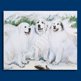 Great Pyrenees Group Blank Note Cards