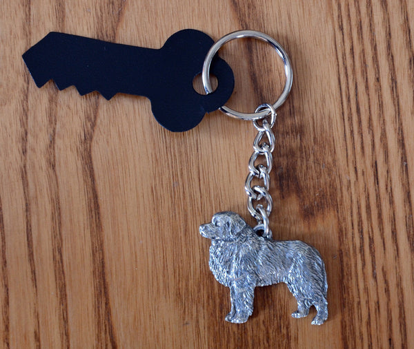 Antiqued Pewter Pyr Keychain