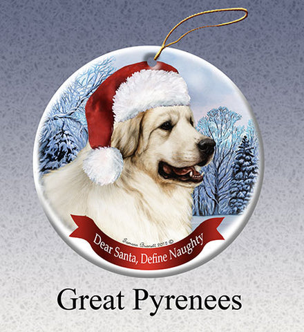 dear santa, pyrenees ornament