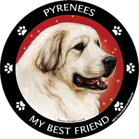 Great Pyrenees my best friend - Magnet