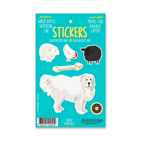 Weather Resistant Pyrenees Stickers