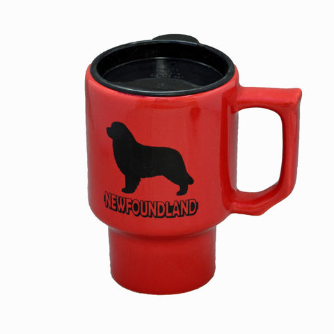16oz Ceramic Newf Travel Mug