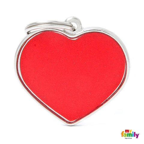 BIG Heart Reflective Tag