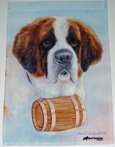 Saint Bernard Head Study III - Garden Sized Flag