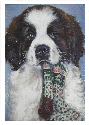 """Saint Puppy Christmas Cards - 10 cards"""