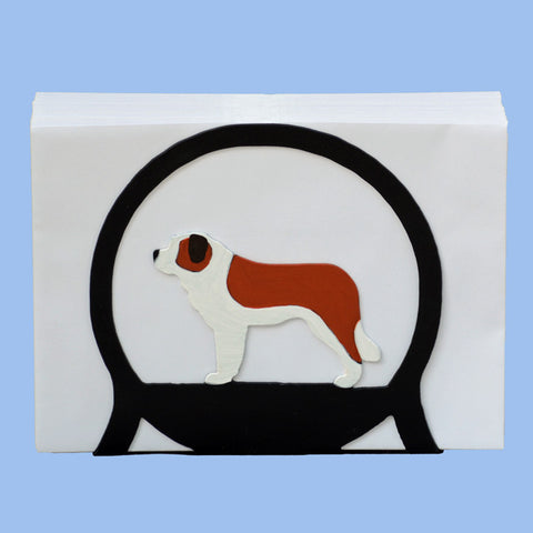 Saint Bernard Napkin/Letter Holder