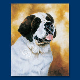 Saint Bernard Blank Note Cards - facing right