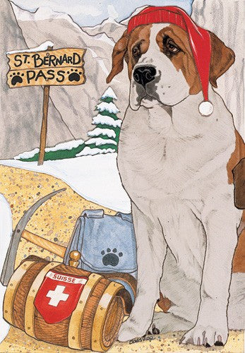 """Saint Bernard Christmas Cards"""