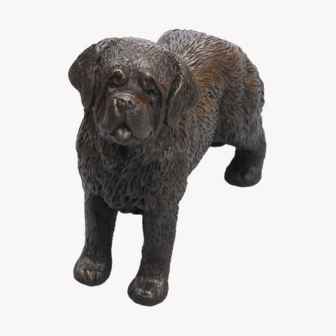 Standing Saint Bernard - small bronze sculpture