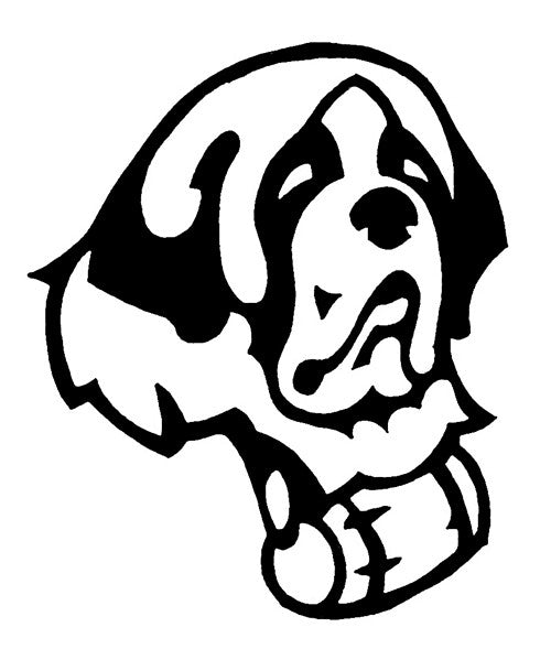 Saint Bernard Decal for Tinted Glass - WHITE