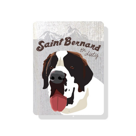 outdoor aluminum saint bernard sign