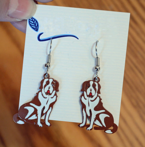 """Saint Bernard Earrings"""