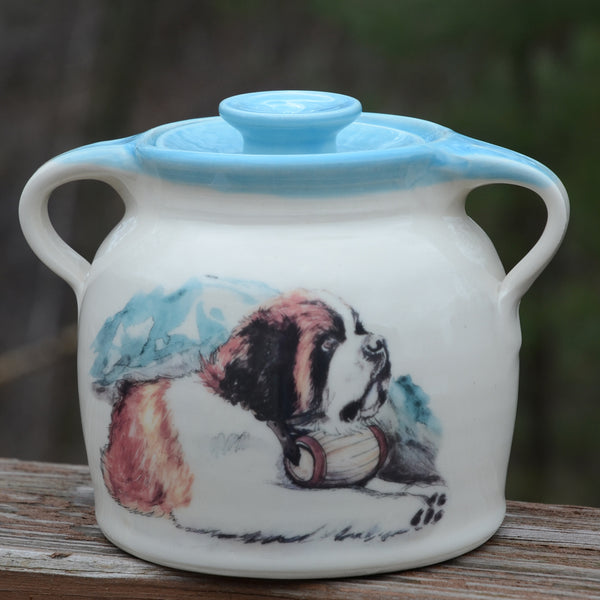 Handmade Saint Bean Pot - 2 Quart