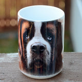 """Saint Bernard Face Ceramic Mug"""