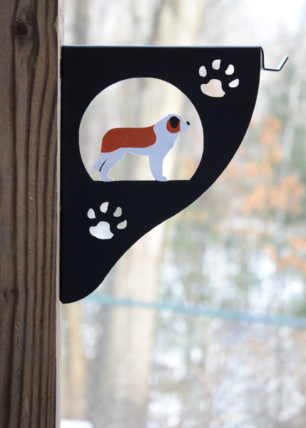 Saint Bernard Plant Hanger/Bracket - Painted