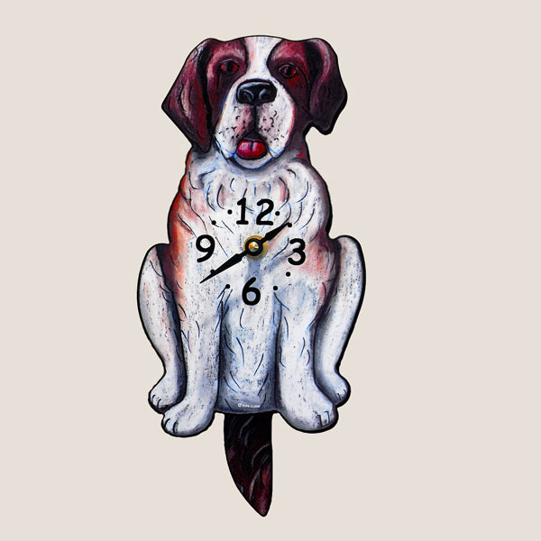 Saint Bernard Motion Clock