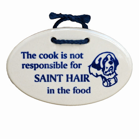 Saint Hair In The Food - Plaque