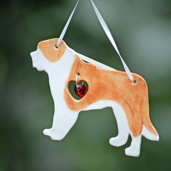 """Porcelain Saint Bernard Ornament"""