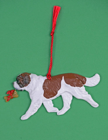 """Saint Bernard with Bone Ornament"""