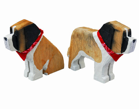 Saint Bernard Wood Carving*