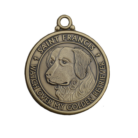 """Golden Retriever"" St. Francis Tag"